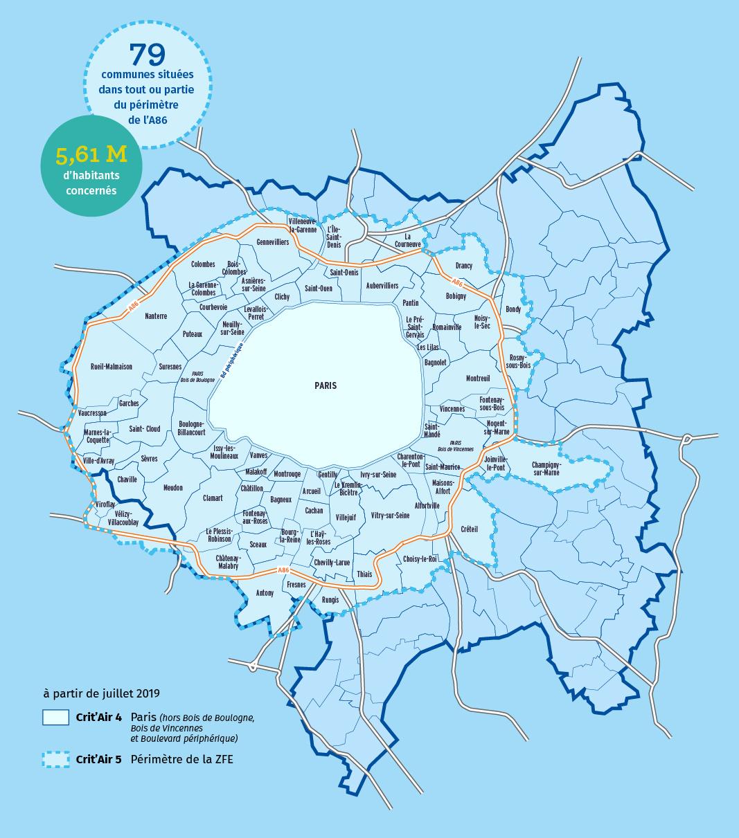 métropole du grand paris : zone à faibles émissions métropolitaine